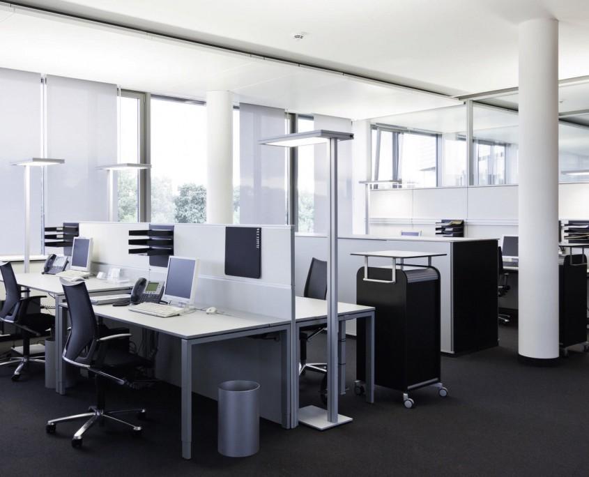 Büromöbel Hauptverwaltung der Volksbank Karlsruhe an der Ludwig Erhard Allee in Karlsruhe