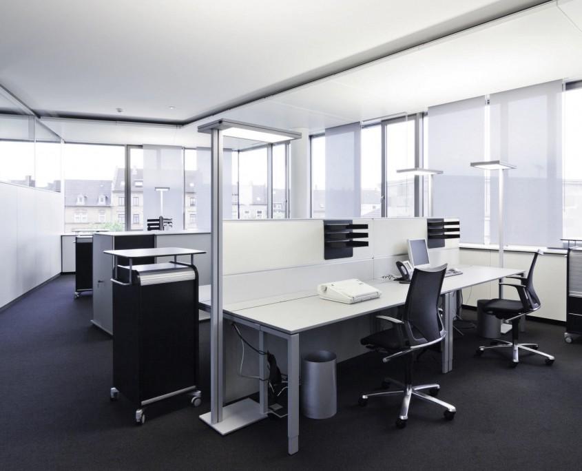 Bürokonzept Hauptverwaltung der Volksbank Karlsruhe an der Ludwig Erhard Allee in Karlsruhe
